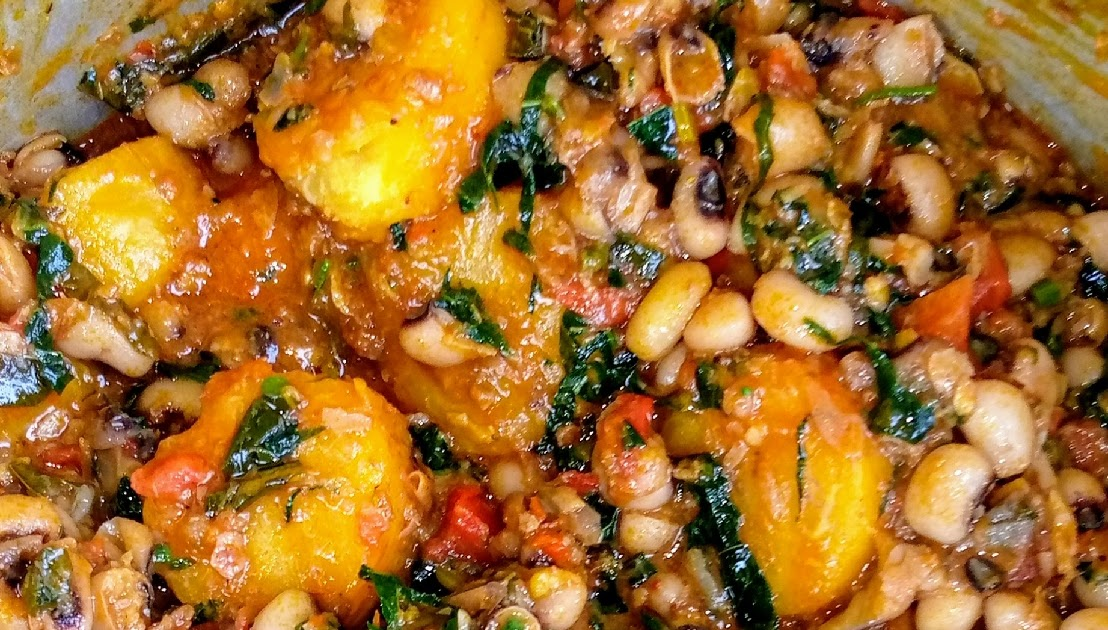 How to Cook Easy Beans and Plantain With Pumpkin Leaf
