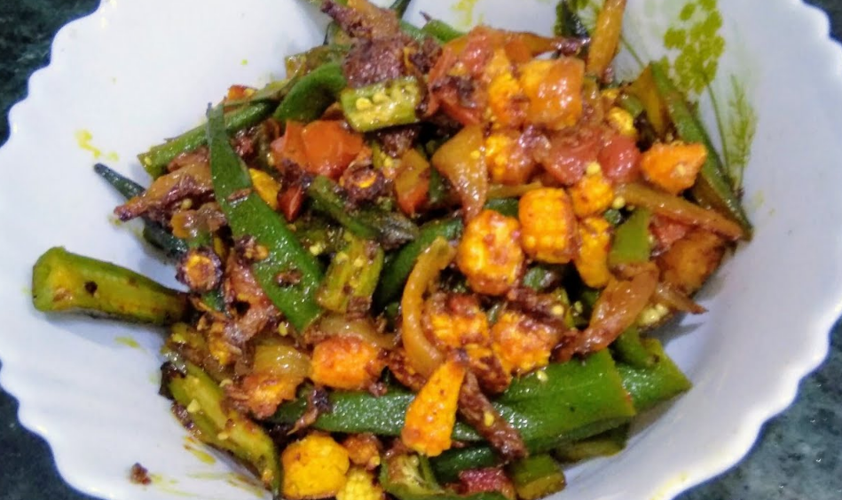 How to Make Easy Okra Recipe with Baby Corn