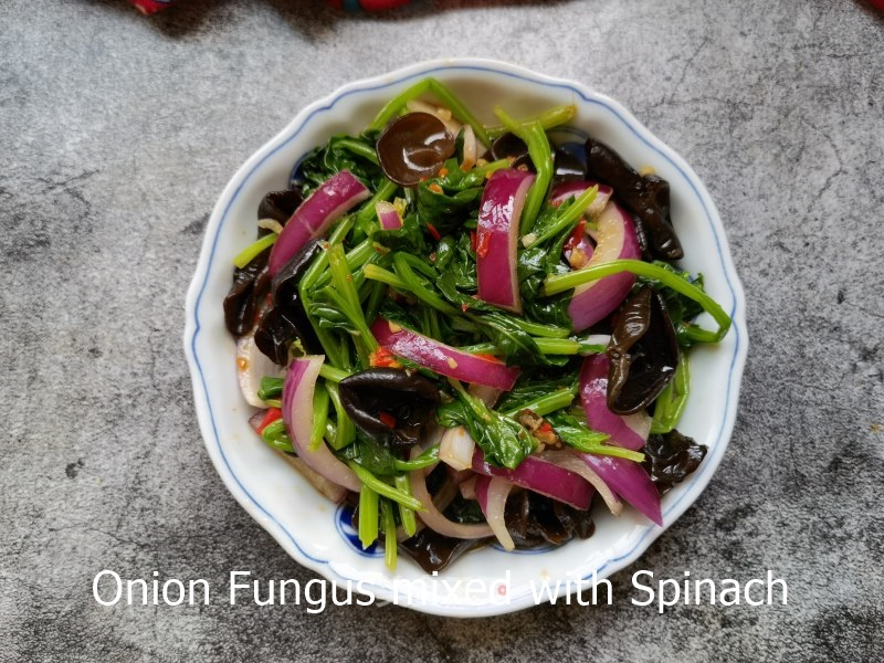 Fungus mixed with Spinach